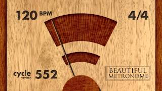 120 BPM 4/4 Wood Metronome HD