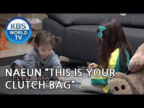 Naeun made a clutch  bag for Gunhoo! [The Return of Superman/2019.04.14]