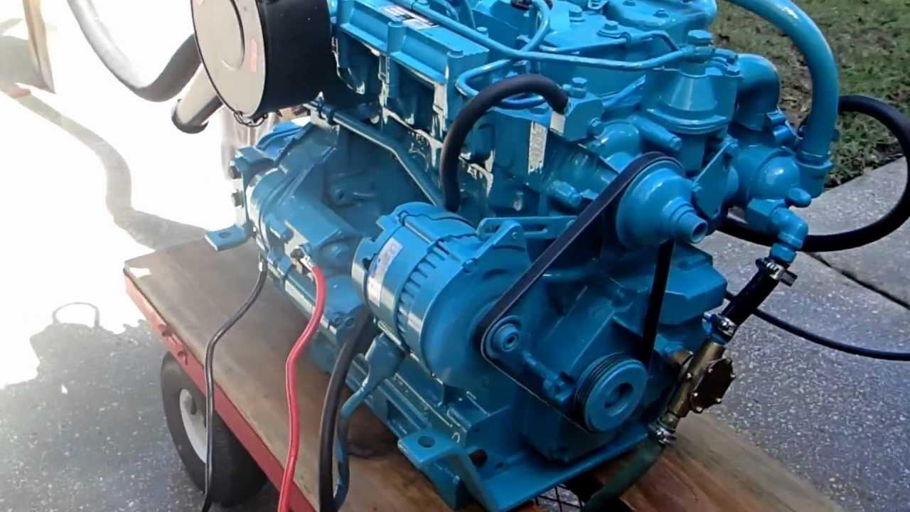 Lister Petter LPW3 Alpha Marine Diesel - YouTube