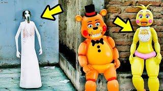 ANIMATRONICS Podem ESCAPAR da Super SLENDRINA? | GTA V Five Nights at Freddy's