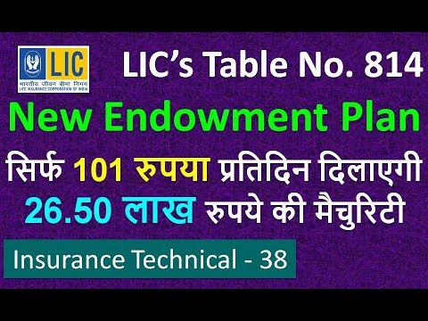 LIC Endowment Plan No 814 in Hindi | Life Insurance | Full Details of Policy with Example