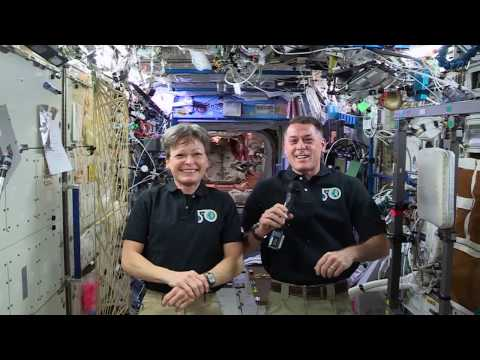 "International Space Station (ISS) Flight Engineer Peggy Whitson and Commander Shane Kimbrough invite students to enter ""The Search for STEMnauts"" contest. Watch this short video from the ISS to learn more about this virtual scavenger hunt from NASA and Texas Instruments, designed to ignite students' interest in STEM subjects."
