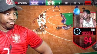 94 BILL RUSSELL BROKE COLLISON'S ANKLES! QUICKSELL PACK OPENING! NBA Live Mobile 16 Gameplay Ep. 58