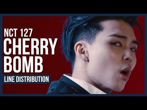 [Corrected In Description] NCT 127 - Cherry Bomb Line Distribution (Color Coded)