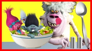 Dreamworks TROLLS BERGENS Chef Makes an Icky Poppy Salad Part 2 with LOL - Ellie Sparkles
