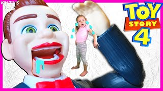Toy Story 4 Benson Dummy Turned Me Into a Toy! | Benson Shrunk Me | Toy Story 4 Toys Hide and Seek