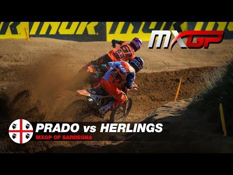 Herlings vs Prado battle - MXGP Race 2 - MXGP of Sadegna 2021 #motocross