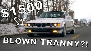 I Bought a $1500 BMW... and Blew the Tranny // Winter Beater Challenge