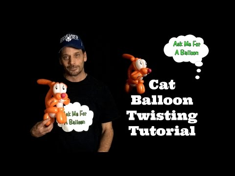 Cat Balloon Twisting Tutorial - Ask Me For A Balloon