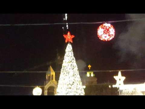 Lighting The Christmas Tree In Bethlehem 2016