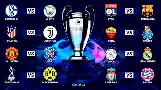 ASÍ se JUGARÁN los OCTAVOS DE FINAL de la UEFA CHAMPIONS LEAGUE 2018/2019