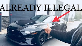 1st ILLEGAL MOD on MY NEW 2018 Ford MUSTANG GT!!!