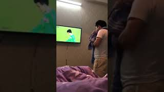 Ông bố của năm 20/1/2018 cổ vũ bóng đá