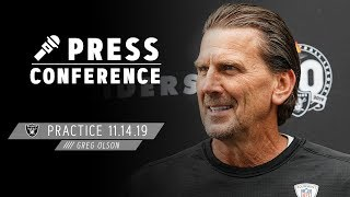 Coach Olson Discusses Confidence on Offense & Bengals' Front Seven | Raiders