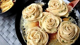 🌹 Rose - Pan Fried Dumplings - Super Crispy & Perfect Potstickers Recipe