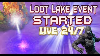 FORTNITE - LIVE 24HR LOOT LAKE EVENT HAS STARTED - VOLCANO OR PYRAMID COUNTDOWN - LAKE ACTIVATED