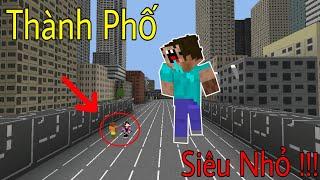 Khám Phá Thành Phố Của Người Tí Hon | Thành Phố Siêu Nhỏ - Minecraft PE