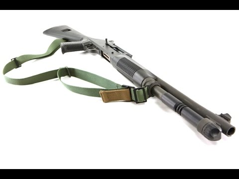 Vickers Sling attached to a Shotgun