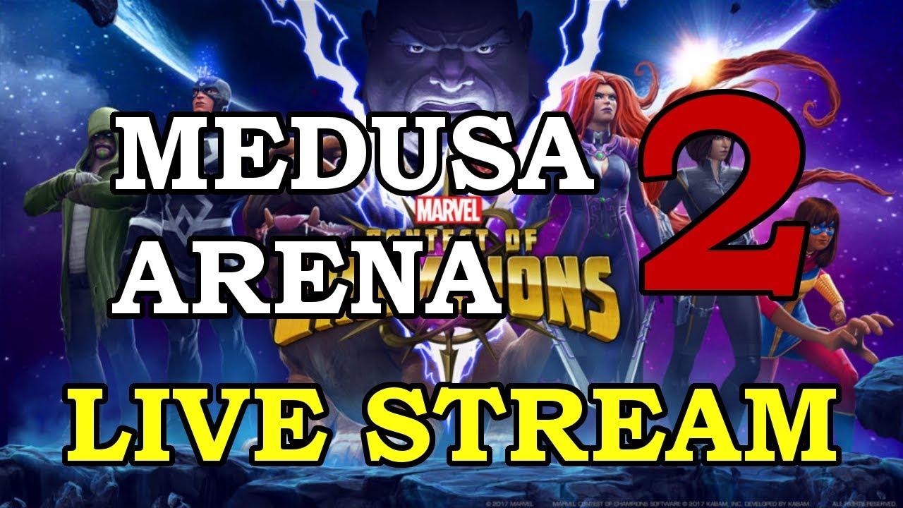 Medusa Arena - part 2 | Marvel Contest of Champions Live Stream