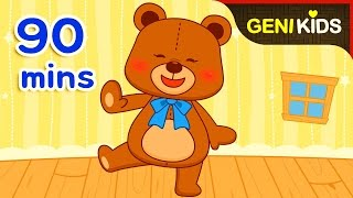 Teddy Bear + Nursery Rhymes Compilation for Kids   Family and Baby Songs with Lyrics ★Genikids