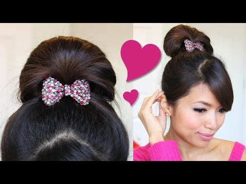 ♥ 1 Minute Perfect Fan Bun Updo Hairstyle   Hair Tutorial - Smashpipe Style