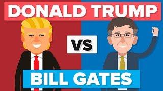 Donald Trump vs Bill Gates - People / Celebrity Comparison