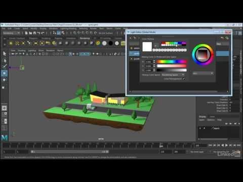 Maya 2017 Essential Training | Use the Light Editor