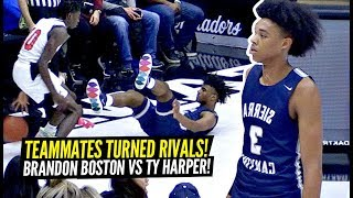 Brandon Boston BATTLES HIS OLD TEAMMATE Ty Harper! Sierra Canyon GETS TESTED In 1ST HALF But Then...