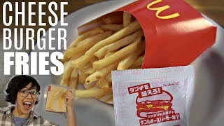 McDonald's Japan CHEESE BURGER FRIES - Shaka Shaka Taste Test