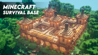 Minecraft: How to Build a Large Oak Survival Base | Ultimate Survival Base Tutorial (DOWNLOAD)