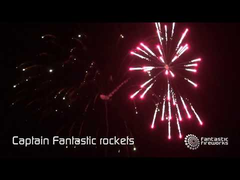 Fantastic Fireworks Captain Fantastic Double Burst Rocket Pack (5 rockets)