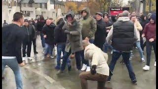 Arsenal vs Tottenham hooligans trouble