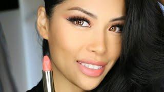 Too Faced Peach Kiss Moisture Matte Longwear Lipstick DISROBED Quick Review Swatch Tutorial