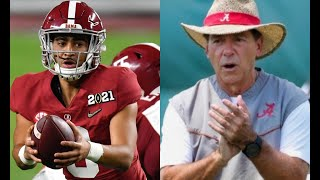 An early look at the Alabama offense in 2021   Bryce Young at QB   Will JC Latham start at tackle?