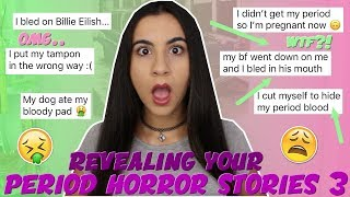 Reading Your WORST Horror Period Stories EVER 3 (so gross!) | Just Sharon