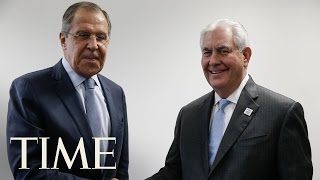 Rex Tillerson And Russian Foreign Minister Sergey Lavrov Make A Joint Statement In Moscow   TIME