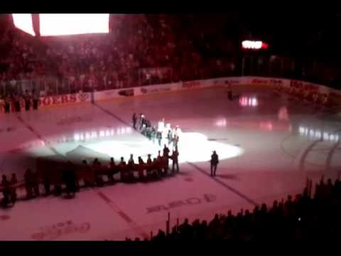 Wildcat Squirt B flag presentation 01-28-12 at UW Womens Hockey game