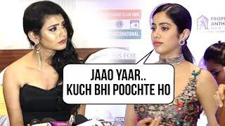 Janhvi Kapoor gets upset asked about Priya Varrier's Sride..