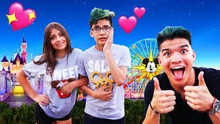 Surprising Little Bro with his DREAM GIRL at Disneyland! *first date*