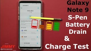 Galaxy Note 9 S-PEN BATTERY TEST (Drain & Charge)