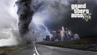 MASSIVE F5 TORNADO IN LOS ANGELES - GTA 5 Survival Mods!