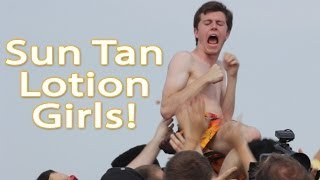 Sun Tan Lotion Girls!