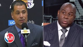Rob Pelinka was saddened by Magic Johnson's First Take comments | NBA Press Conference
