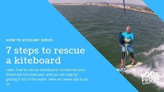 Kitesurf Tutorial - How to rescue a board in 7 steps