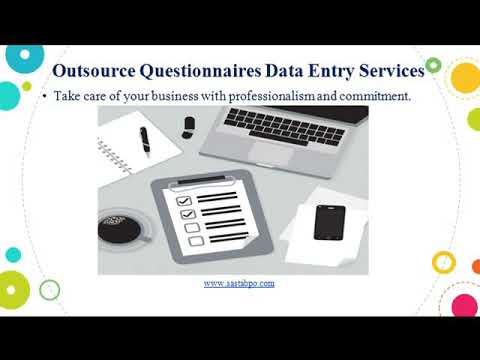 Outsource Questionnaires Data Entry Services - Sasta Outsourcing Services
