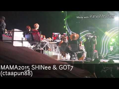 20151202 MAMA2015 SHINee & GOT7 fancam