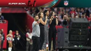 Hamilton Cast Members Perform America the Beautiful at Super Bowl LI   NFL