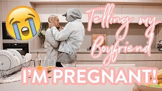 Telling my boyfriend I'M PREGNANT! *He was not expecting this*