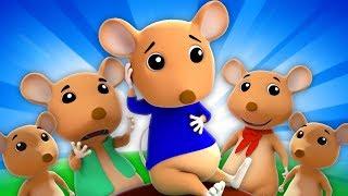 Cinco Pequeñas Ratas Traviesas | Canciones Infantiles | Five Little Naughty Rats | Farmees Español