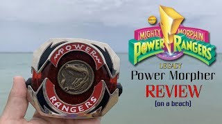 LEGACY POWER MORPHER REVIEW! (at a beach) - Mighty Morphin Power Rangers